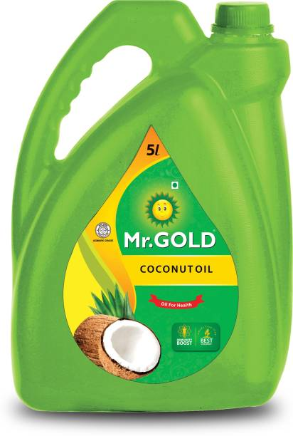 Mr. Gold Coconut Oil 5 Ltr Can Coconut Oil Can