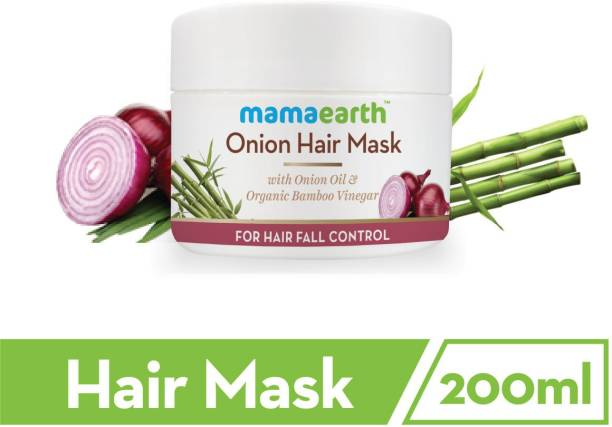 MamaEarth Onion Hair Mask For Dry & Frizzy Hair, Controls Hairfall