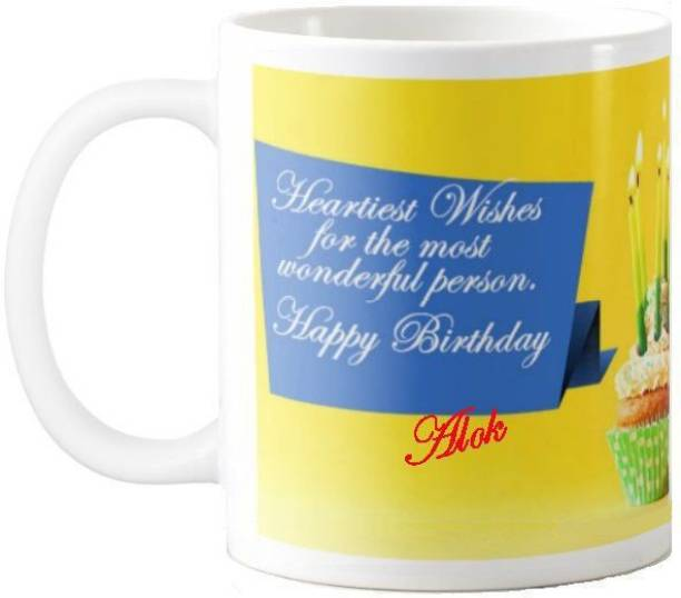 Exoctic Silver Alok Happy Birthday Gift 57 Ceramic Coffee Mug