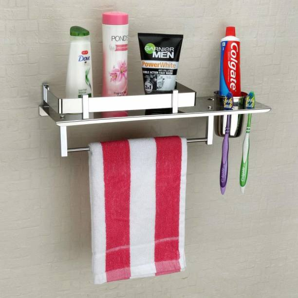 Impulse Tumbler Holder/Bathroom Accessories (15 x 6 Inches) Stainless Steel Wall Shelf