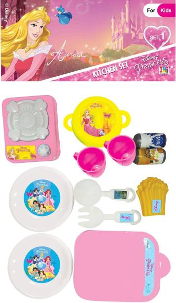 DISNEY Princess Aurora Role Play Kitchen Set for Kids