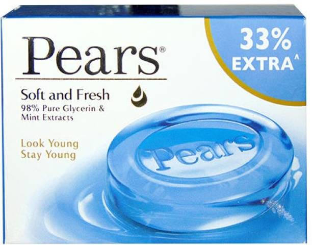 Pears Soft and Fresh Mint Extracts Bar 75g