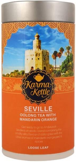 Karma Kettle Seville - Premium Whole Oolong Tea Orange Oolong Tea Tin