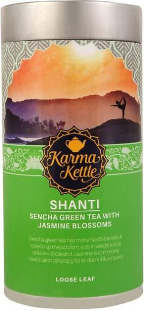 Karma Kettle Shanti- Imported Sencha Green Tea Jasmine Green Tea Tin