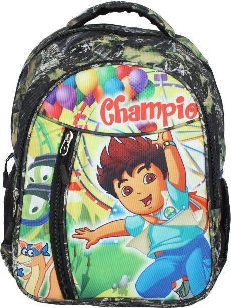 Aadhunik Libaas Champion Printed Lightweight Kids School Bag School Bag