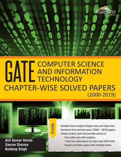 Wiley's GATE Computer Science and Information Technology Chapter - wise Solved Papers (2000 - 2019)