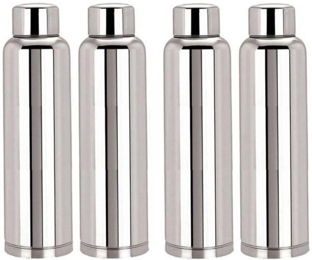 Steelo classic stainless steel fridge water bottle 900ml (pack of 4) 900 ml Bottle