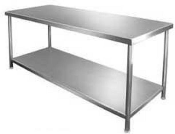 """DG DEXAGLOBAL ™ Sainless steel table Size : 45"""" x 26"""" x 34"""" LxBxH Metal 6 Seater Dining Table"""