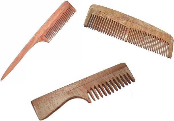 CartKing Neem Wooden/Wood Comb For Women & Men Hair Growth - Helps In Prevention Of Hair Fall & Anti Dandruff Trait - Naturally Prepared in Villages of Bengal- Best & Original Neem Pocket Comb