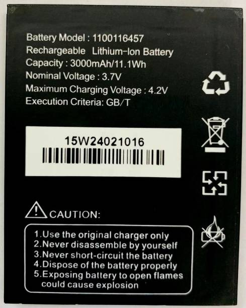 Door Of Fashion Mobile Battery For  Videocon Z51 Pinch