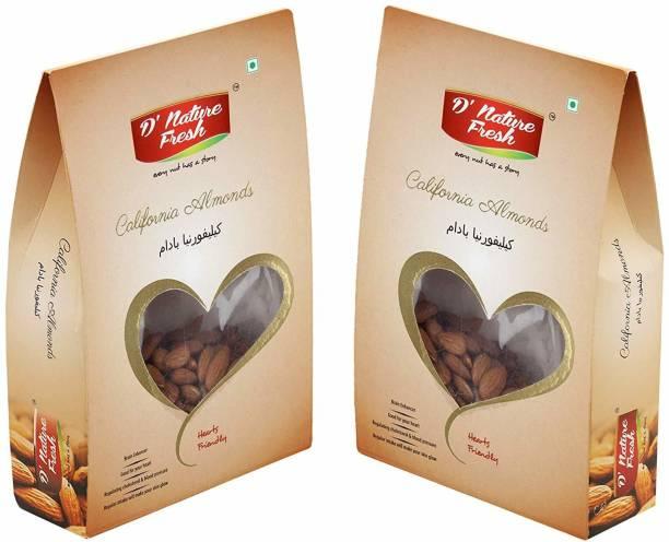 D NATURE FRESH D'nature fresh California Raw Almond 200 gm (Pack of 2) Almonds