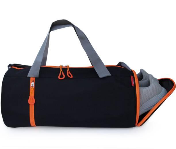 Sfane Orange & Black Gym Bags with Shoe Compartment For Men & Women Sports Bag