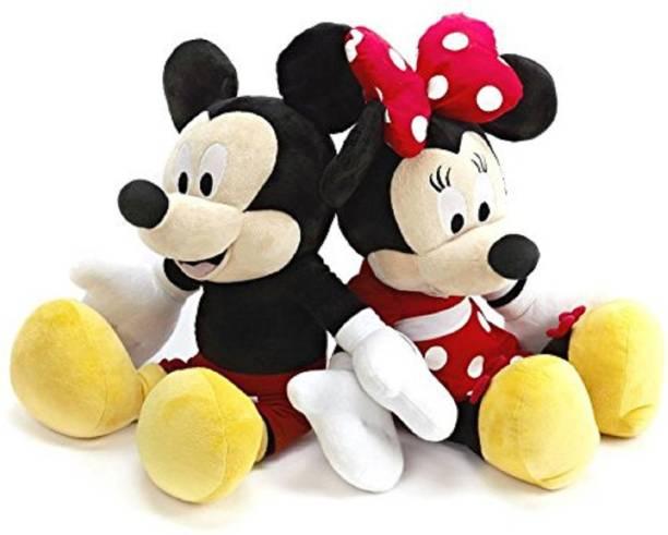 skky bell Kid's Fav Mickey Minnie Mouse Stuffed Soft Toys-Medium 20 cm  - 20 cm