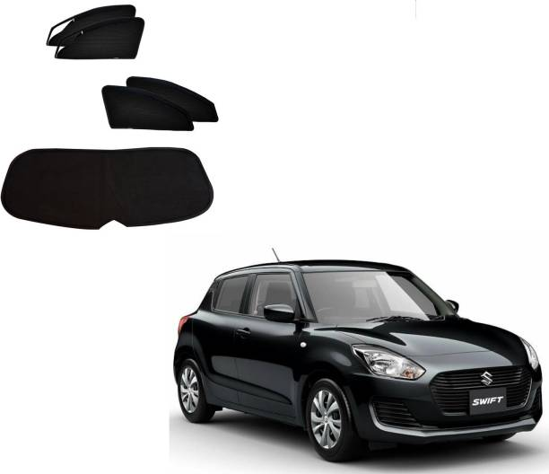 AuTO ADDiCT Side Window, Rear Window Sun Shade For Maruti Suzuki New Swift