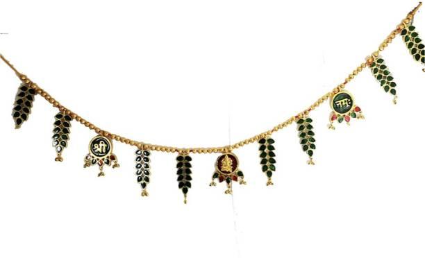 Chhariya Crafts Shree Ganesh Namha With Grapes Design Toran