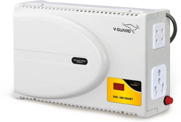 V-Guard Digi 200 Smart for 178 cm (70) TV + Set Topbox + Home Theatre (Working Range: 140-295V; 6 A) Voltage Stabilizer