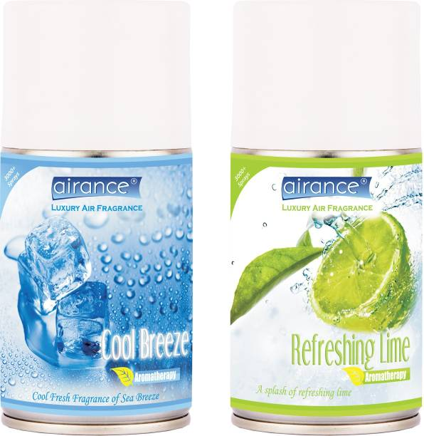 Airance Cool Breeze, Refreshing Lime Automatic Spray, Refill, Spray