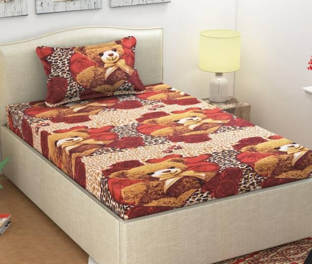 Monika 104 TC Cotton Single Printed Bedsheet