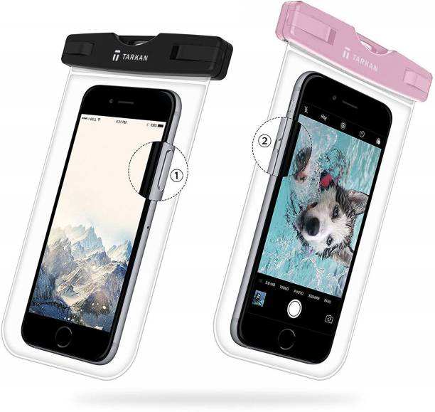 Tarkan Pouch for Matte Universal Waterproof Case, IPx8 Phone Pouch, Fits Upto 6.5 Inch Mobiles