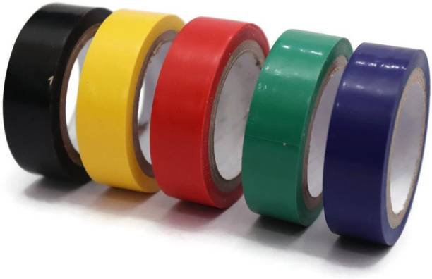 Electronic Spices PVC Tape Electrical Insulation Tape Self Adhesive PVC (0.125x170), 8 mtrs-PACK OF 5