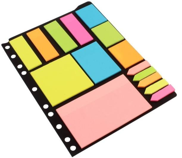 Unicus UN-12 125 Sheets ticky Notes & Page Markers Binder Pack (Pack of 1), 5 Colors