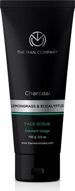 THE MAN COMPANY Charcoal Face Scrub for Exfoliation, Anti-acne & Pimples, Blackhead Removal Scrub