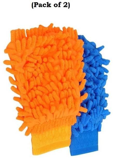 MOCKHE Microfiber Vehicle Washing  Hand Glove
