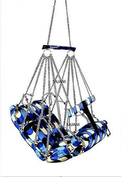hatke dukan Multi Color Cotton Hanging Home Swing for Baby(0-2years) Bouncer