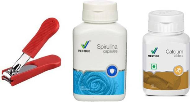 Vestige Spirulina and calcium with nail cutter