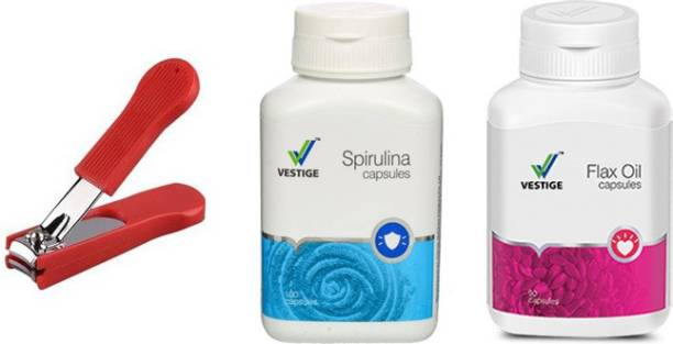 Vestige Spirulina and flax oil with nail cutter