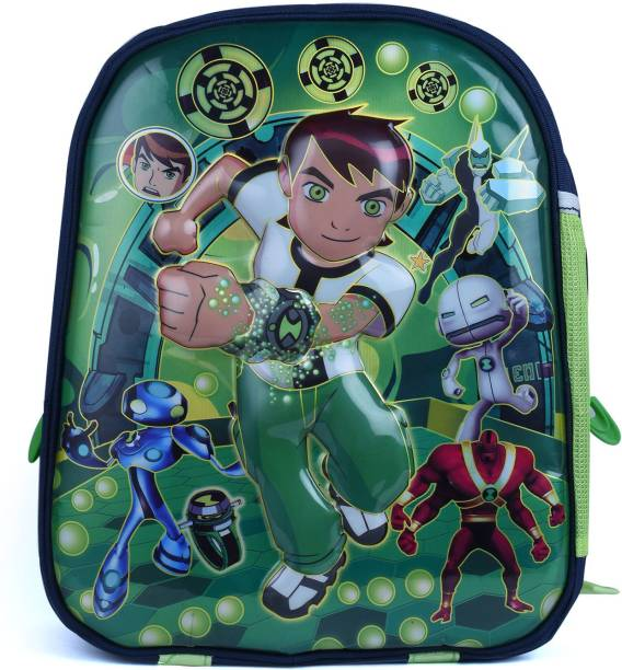 Muskaan School Bag For Kids 3D Ben 10 Plush Backpack For Small Kids Nursery School Bag