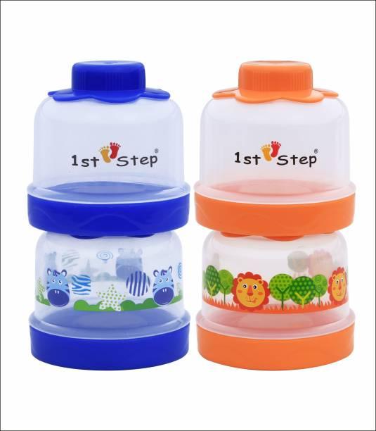 1st Step BPA Free Polypropylene 4-tier Milk Powder Container  - Food Grade Plastic