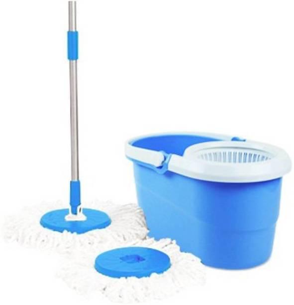 Majron Magic Dry Bucket Mop-360 Degree Spinner Mop Set, Cleaning Wipe, Mop