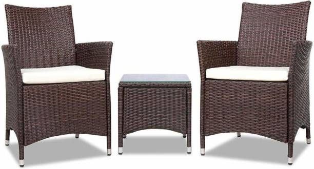 Carry Bird Leather Brown Metal Table & Chair Set