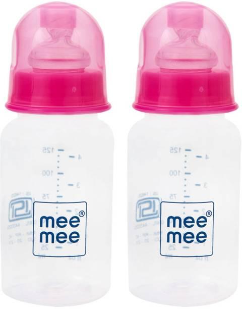 MeeMee Easy Flo Premium Baby Feeding Bottle (Pink, 125ml) - 125 ml