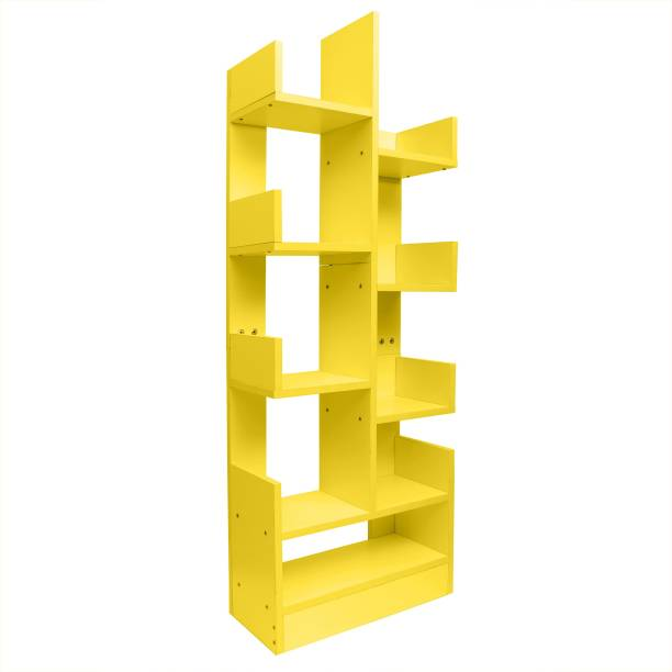 Kurtzy Book Shelf Storage rack organizer Engineered Wood Open Book Shelf