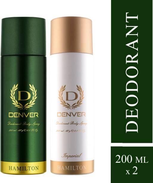 DENVER Hamilton and Imperial Combo Deodorant Spray  -  For Men