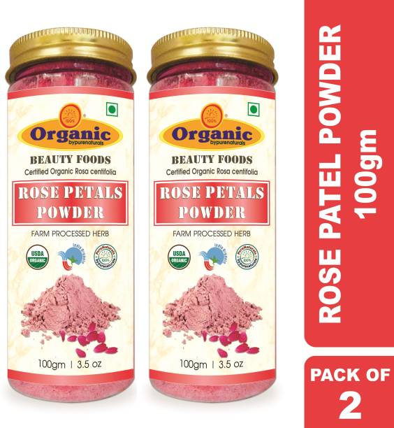 byPurenaturals Organic Rose Petals Herb Powder
