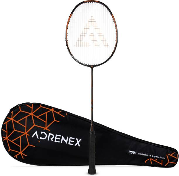 Adrenex by Flipkart R501 Full Graphite Badminton Racquet Black, Orange Strung