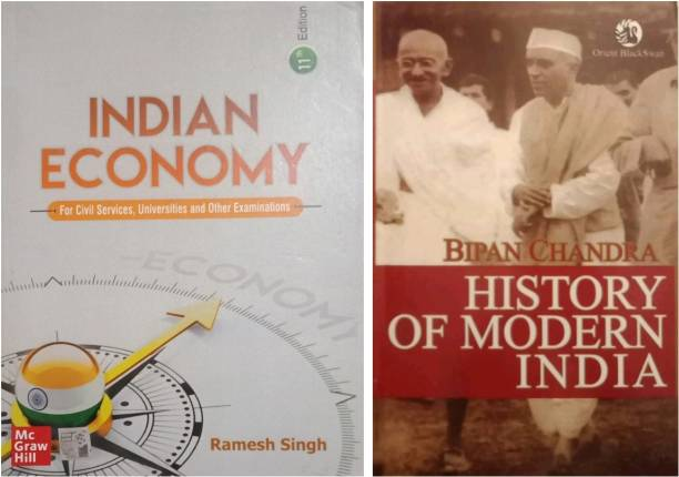 INDIAN ECONOMY BY RAMESH SINGH & HISTORY OF MODERN INDIA BY BIPIN CHANDRA ( COMBO PACK OF 2 BOOK) (K Chandan Gupta ) Ramesh Singh , New Indian Economy , Modern India By Bipin Chandra