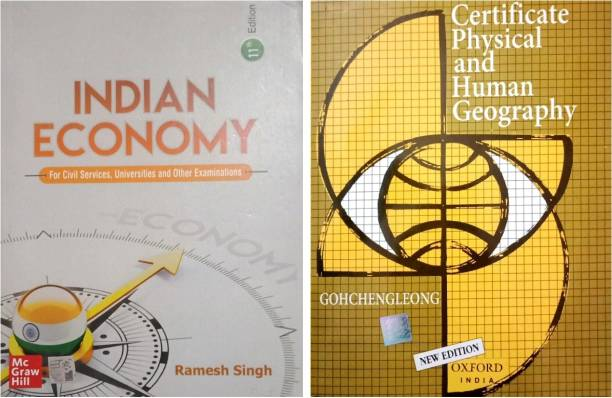 COMBO 2 BOOKS - INDIAN ECONOMY BY RAMESH SINHG- CERTIFICATE PHYSICAL AND HUMAN GEOGRAPHY BY G.C LEONG (K Chandan Gupta ) Ramesh Singh , New Indian Economy , GC LEONG , Indian Economy Book , Gc Leong