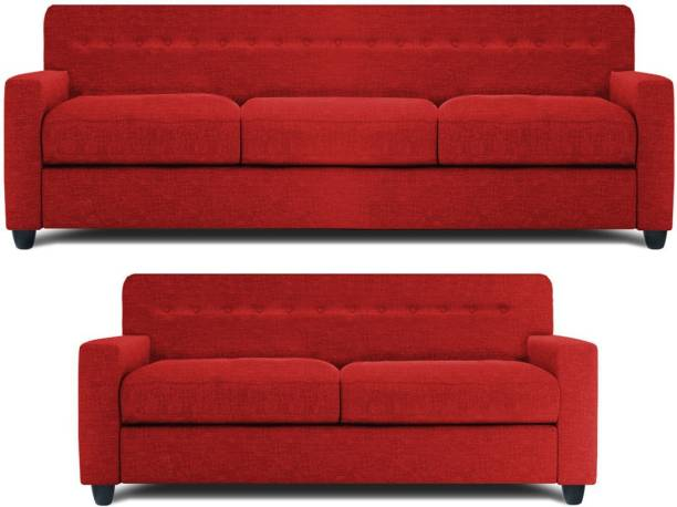 Spaces Therapy Solitaire Fabric 3 + 2 RED Sofa Set