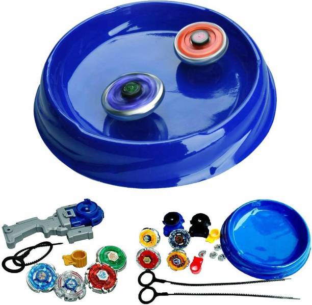 Authfort New 8 in 2 Metal Beyblades Toy Set with Stadium and 3 Launchers ( 8 Beyblade )