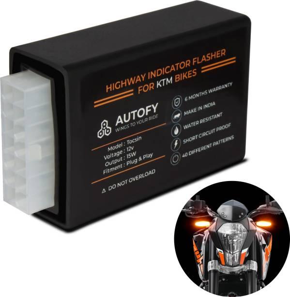 Autofy Front, Rear LED Indicator Light for KTM Duke 200, Duke 390, RC 390, RC 200