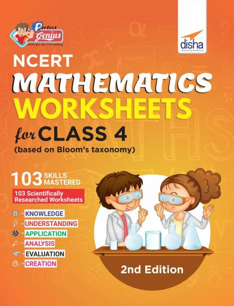 Perfect Genius NCERT Mathematics Worksheets for Class 4 (based on Bloom's taxonomy) 2nd Edition - (Based on Bloom's Taxonomy) 2 Edition