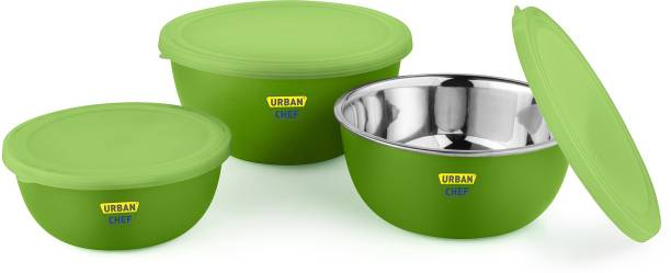 Urban Chef Flora Microwave Safe Steel Vegetable Bowl