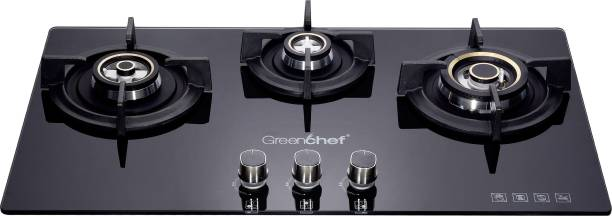 Greenchef GHT HOB cooktop 3 Burner Automatic Gas Stove Glass Automatic Hob