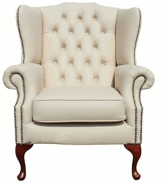 Lakdi - The Furniture Co. Fully Cushioned Single Seater Sofa Cum Lounge Chair Leatherette Living Room Chair