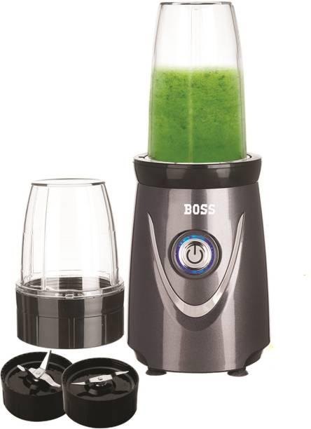 Boss Nutri Pro 550 Watts Juicer Mixer Grinder Blender, 2-Jars, Grey 550 Juicer Mixer Grinder (2 Jars, Grey)