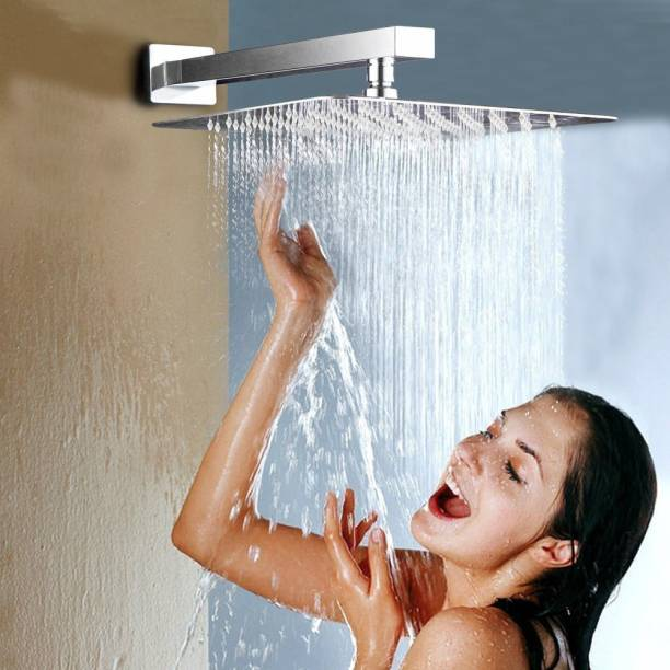 ANMEX 8 Inch (8X8) Over Head Rain Shower with 12inch shower arm Shower Head